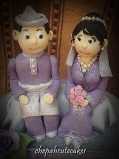 Image result for malay wedding couple cake topper