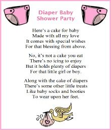 Girl Diaper Cake Poems