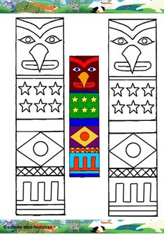 Arts And Crafts Style Furniture Key: 5546828405 Native American Projects, Native American Art, American Indians, Totem Pole Art, Pilgrims And Indians, Kindergarten Art Lessons, Cultural Crafts, Wild One Birthday Party, Indian Crafts
