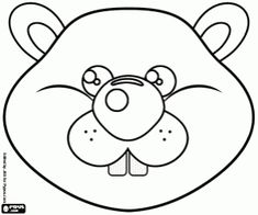 Australian Animals Printable Coloring Masks, aussie animal