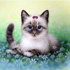 diy square diamond painting cat cartoon animal full embroidery rhinestones pasted painting kid house decoration 3 styles 20*20cm