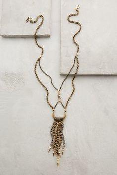 Anthropologie Chained Crescent Necklace #anthrofave