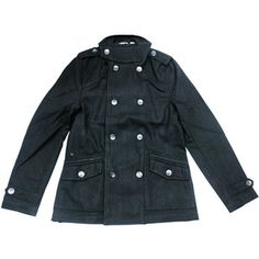 Mercy Peacoat Black now featured on Fab.