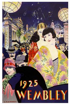 Poster for the 1925 British Empire Exhibition at Wembley (artwork by Christopher Nevinson)