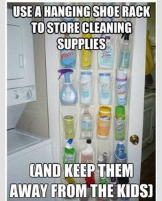 Check Out This Way To Keep Your Cleaning Products Organized And Away From Children!