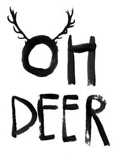 """Illustrations - Print """"Oh Deer"""" DIN A 4 - a designer product by TreeChild at . - Illustrations – Print """"Oh Deer"""" – a unique product by TreeChild on DaWanda - Noel Christmas, Christmas And New Year, Winter Christmas, All Things Christmas, Christmas Crafts, Christmas Decorations, Black Christmas, Christmas Pictures, Christmas Is Coming Quotes"""