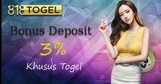 Dapatkan bonus deposit togel sebesar 3% setiap hari nya hanya di 818togel. Bonus akan langsung di kasih di awal setelah melakukan deposit dana. #BonusTogel #TogelOnline #BandarTogelTerpercaya #AgenTogelOnline #BandarTogelResmi #BOaman #BOterpercaya #Togel #TogelHK #TogelSGP #Togelsydney #TogelHariIni Movies, Movie Posters, Films, Film Poster, Cinema, Movie, Film, Movie Quotes, Movie Theater