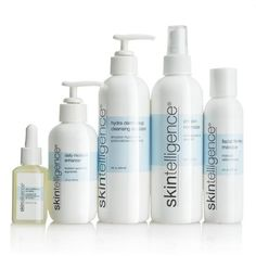 Skintelligence® Five-Piece Set - Single Bottles: Hydra Derm Deep Cleansing… Bath And Shower Products, Facial Cleansers, Skin Care Regimen, Health And Nutrition, Body Care, Cosmetics, Skincare, Beauty Products, Hair Products