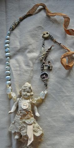Frozen Charlotte doll necklace