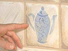 How to Paint Tile Backsplash and Stenciling