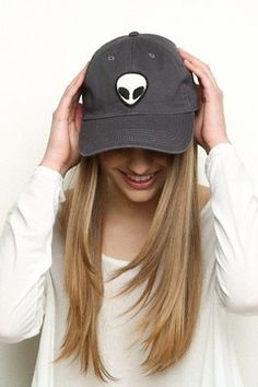 Brandy ♥ Melville | Katherine Alien Patch Baseball Cap - Accessories