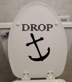 Drop Anchor 7x8  Toilet Seat Sticker  by DecalPhanatics on Etsy, $5.99