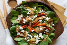 Roasted Root Vegetable Salad (I have to make w/o the yeast loving Balsamic-Date Dressing) This combo looks delicious.  Maybe I could make that walnut dressing for it ;)