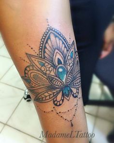Jeweled lotus tattoo