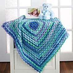 Picture of Terrific-to-touch Baby Afghans                                                                                                                                                                                 Plus