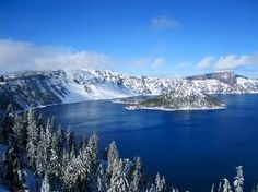 Crater Lake in winter.  A must side trip if visiting Bend.
