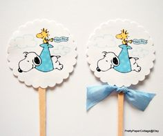 snoopy baby shower cupcake toppers baby shower cupcakes babies and