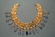 Necklace with open work set with gems, Germany mid sixth century.