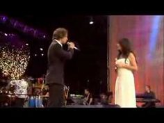 Josh Groban and Sarah Brightman singing That's All I Ask of You from Phantom of the Opera.