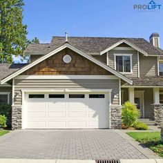 Check out this amazing photo - what a clever style and design - Diy garage door makeover - Side Hinged Garage Doors, Unique Garage Doors, White Garage Doors, Garage Door Windows, Diy Garage Door, Garage Door Springs, Garage Door Styles, Wood Garage Doors, Garage Door Makeover