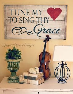 Hymn sign - not sure I'm brave enough to leave my violin out... =)