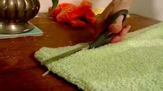 fabriquer un tapis de bain avec des vieilles serviettes