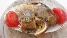 морской окунь, запеченный в духовке