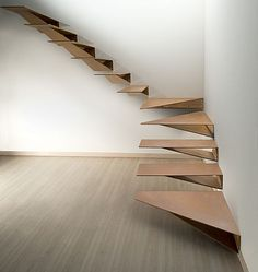 "The new Marretti's staircase in Cor-ten has released a new type of level design, being designed by Marretti's design and developing department after study for strength, weight, step's shape, and now we are able to supply an innovative staircase never seen before in the staircase's market that bring a unusual ""sculpture"" in the room, the staircase can supplied rusted or painted or resin coated such as ""Travertine Marble"" or many others colours,   www.marretti.com"