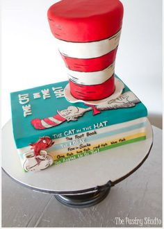 Let me top off my love affair with The Pastry Studio with this delightful Dr. Seuss cake design. Look at how real the stack of books look! I am in awe of this level of expertise. Isn't it amazing? #cake_stand, #wedding, #cakestand