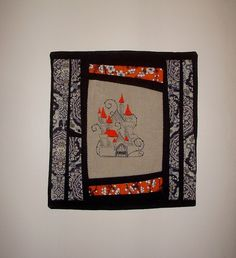 Fairy Tale Castle Pillow Cover  Hand Embroidery by KarenHeenan, $40.00 - SOLD