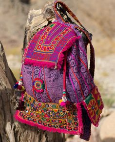 Coupon Code!! CHAKRA Back Pack BAckPack Hmong Batik banjara Embroidery Mirror…