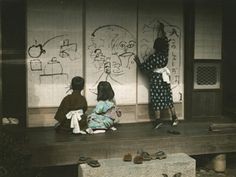 Eliza Scidmore Photographed Everyday Life in Japan Over 100 Years Ago Old Pictures, Old Photos, Vintage Photos, Cherry Blossom Tree, Blossom Trees, Japan Image, Drawing For Kids, Children Drawing, Wow Art
