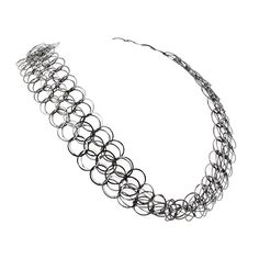 Double Layer Chainmail Necklace in Oxidised Silver, 2012, Joanne Thompson - The Scottish Gallery, Edinburgh - Contemporary Art Since 1842