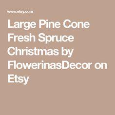 Large Pine Cone Fresh Spruce Christmas by FlowerinasDecor on Etsy