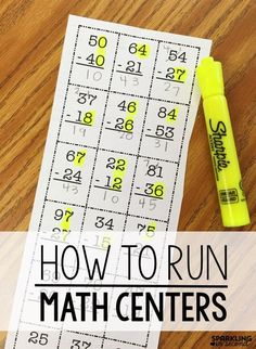 Math centers can be a challenge. See how organize my centers and changed how I r… Math centers can be a challenge. See how organize my centers and changed how I run my math centers in my first grade classroom in a way that saved my sanity! Second Grade Math, First Grade Classroom, Math Classroom, Grade 2, Classroom Ideas, 2nd Grade Math Games, Teaching First Grade, Future Classroom, Math Strategies