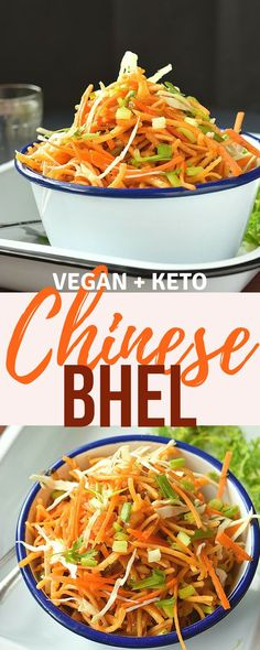 Chinese Noodle Salad / Chinese Bhel Delicious Street food in a better way -Chinese Bhel /Noodle Salad Chinese Bhel, Chinese Food, Healthy Chinese, Delicious Vegan Recipes, Keto Recipes, Healthy Recipes, Fast Recipes, Vegan Meals, Vegan Food