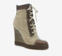 Chloé Brown And Beige Booties