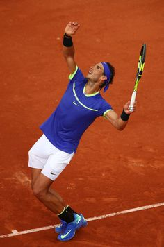 Rafael Nadal Photos Photos - Rafael Nadal of Spain serves during the men's singles third round match against Nikoloz Basilashvili of Georgia on day six of the 2017 French Open at Roland Garros on June 2, 2017 in Paris, France. - 2017 French Open - Day Six
