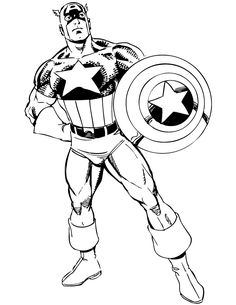 Free Printable Superhero Captain America Coloring Pages For Kids ...