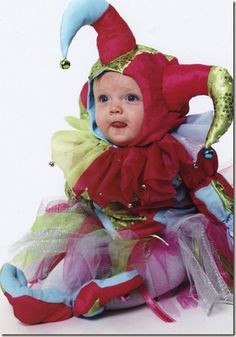 Baby's 1st Halloween...a court jester #sewing #costume #harlequin