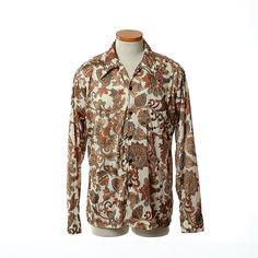 Vintage 70s Spire Mod Disco Shirt 1970s Floral by CkshopperVintage