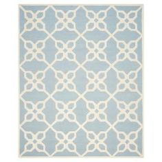 Beautify your space with the Safavieh Bellina Rug. This gorgeous accent rug has a classic pattern that looks great in any room. It's hand tufted in 100% wool. The low pile is best to vacuum regularly and a rug pad is recommended.