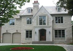 Buff Indiana Limestone Coursing, with Indiana Limestone door surround by CWB MTL, via Flickr