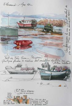 Sketchbook, travel diary, art journal. TOUR-BRETAGNE-5-8389.JPG