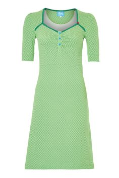 LIKE the pleats-Tante Betsy dress: Tolle Lola Green
