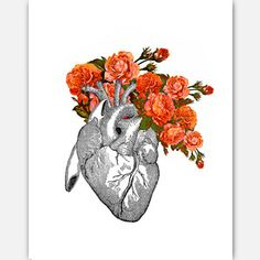 Flowering Heart Print 11x14, $28, now featured on Fab.