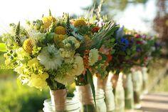 Rainbow Maids, all Organic wedding flowers by Erin Benzakein / Floret Flower Farm, via Flickr