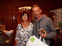 Sweet Leaf Co-founder Rose Creamer with Callum Keith Rennie