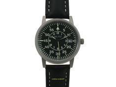 Aristo Fliegeruhr mit Datum Made in Germany 3H09E mit roter oder grüner Sekunde Aristo, Watches, Leather, Accessories, Ebay, Bowties, Wrist Watches, Tag Watches, Watch