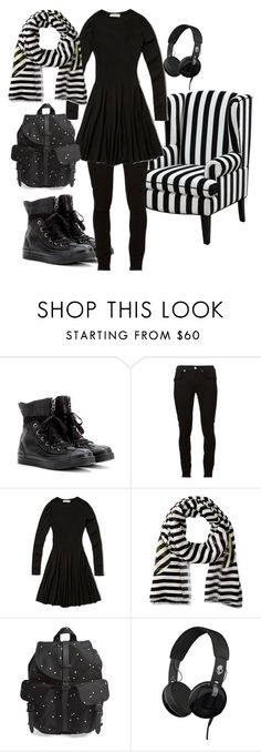 """""""Beetlejuice Fan Hijabi"""" by sugarspun-sister ❤ liked on Polyvore featuring Converse, Helmut Lang, Abercrombie & Fitch, Marc by Marc Jacobs, Herschel Supply Co. and Skullcandy"""